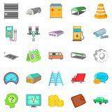 Repository icons set, cartoon style. Repository icons set. Cartoon set of 25 repository vector icons for web isolated on white background Stock Photography