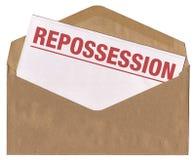 repossession för kuvertbokstavsmeddelande Arkivbilder