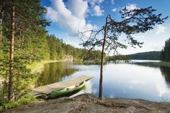 Repovesi nationalpark, Kouvola, Finland royaltyfri fotografi