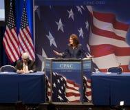 Repräsentant. Michele Bachmann an CPAC 2011 Lizenzfreie Stockfotos