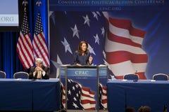 Repräsentant. Michele Bachmann an CPAC 2011 Lizenzfreies Stockfoto