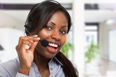 Représentant de client au travail image libre de droits