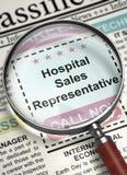 Représentant de commerce Hiring Now d'hôpital 3d Images stock