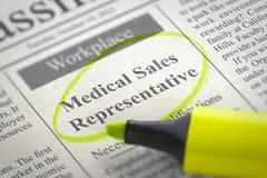Représentant de commerce médical Hiring Now 3d Image libre de droits