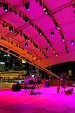 Représentation au théâtre extérieur Singapour d'esplanade photographie stock