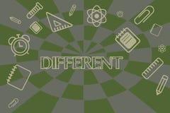 Représentation conceptuelle d'écriture de main différente Photo d'affaires présentant pas les mêmes qu'un autre ou différent deda illustration de vecteur