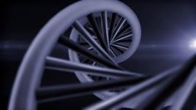 Représentation d'ADN avec la fusée légère Photographie stock