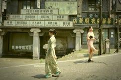 Représentation dans des emplacements abandonnés de film Image stock