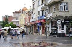 Représentation de boussole sur la rue Photo libre de droits