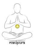 Représentation de chakra de Manipura Image libre de droits
