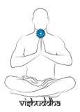 Représentation de chakra de Vishuddha Images libres de droits
