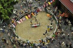 Représentation de cirque en miniature Photo stock