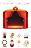 Icônes magiques réglées Image stock