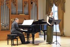 Représentation de concert à l'académie, Lithuanie photos stock