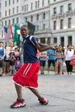 Représentation de danse de rue dans la grande plaza d'armée, New York City image stock