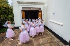 Représentation de filles de ballet à l'arrière plan Images stock