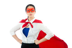 Représentation de l'habillement de super héros sous la chemise de bureau Images stock