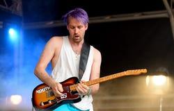 Représentation de MOIS (chanteur danois et compositeur signés à Sony Music Entertainment) au festival de sonar Photos stock