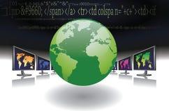 Représentation de réseau global illustration de vecteur