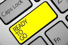 Représentation de signe des textes prête à aller La photo conceptuelle sont vous s'est préparée à la future clé Inte de jaune de  illustration de vecteur