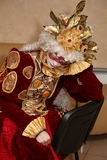Représentation des acteurs du monsieur errant Pezho de poupées de théâtre dans le foyer du cuir épais de théâtre Image stock