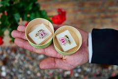 Représentation des anneaux de mariage photo stock