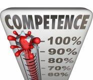 Représentation fiable Theremometer Measurem de capacité de compétence illustration stock