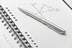 Représentation graphique d'argent et de formule de temps Images libres de droits