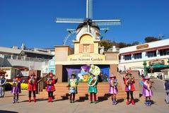 Représentation musicale en parc d'attractions, Corée Photographie stock