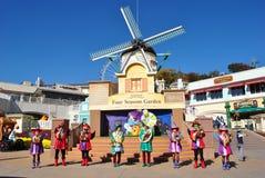 Représentation musicale en parc d'attractions, Corée Photographie stock libre de droits