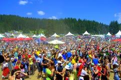 Représentation-Rozhen de applaudissement de foule, Bulgarie Photographie stock libre de droits