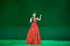 Représentation soloe de soprano, terril de la HU Images stock