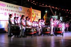 24 représentations de fête de tambours Images libres de droits