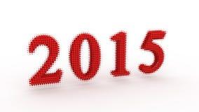 Représente la nouvelle année 2015 Photographie stock