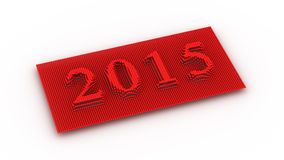Représente la nouvelle année 2015 Image libre de droits
