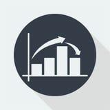 représentez graphiquement la conception plate, conception de maths, conception de données Photos stock