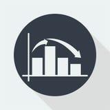 représentez graphiquement la conception plate, conception de maths, conception de données Photographie stock libre de droits