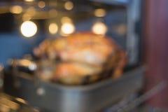 Repreensão de Turquia em Oven Blurred Background Imagem de Stock Royalty Free