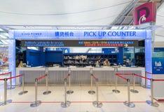 Reprenez contre du magasin du Roi Power, airpor de Bangkok Suvarnabhumi Photographie stock