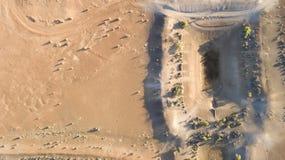 Represa árida da exploração agrícola no oeste distante de Novo Gales do Sul foto de stock royalty free