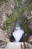 Represa da central eléctrica hydroelectric Fotografia de Stock