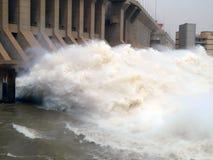 Represa da central elétrica hidroelétrico de Merowe Fotografia de Stock Royalty Free