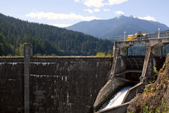 Represa da garganta de Glines, rio de Elwha Fotos de Stock Royalty Free
