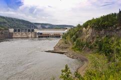 Represa da garganta de Peace River foto de stock
