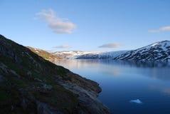 Represa da geleira de Svartisen Fotografia de Stock Royalty Free
