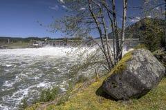 Represa de Bonneville que libera o estado de Oregon da água Foto de Stock