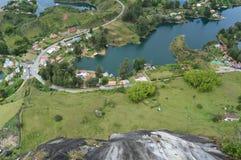 Represa de Guatape da parte superior fotos de stock