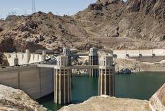 A represa de Hoover em Nevada Fotos de Stock Royalty Free