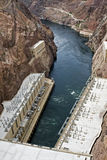 Represa de Hoover perto da cidade de Boulder Fotos de Stock