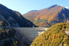 Represa de Inguri em Geórgia Fotografia de Stock